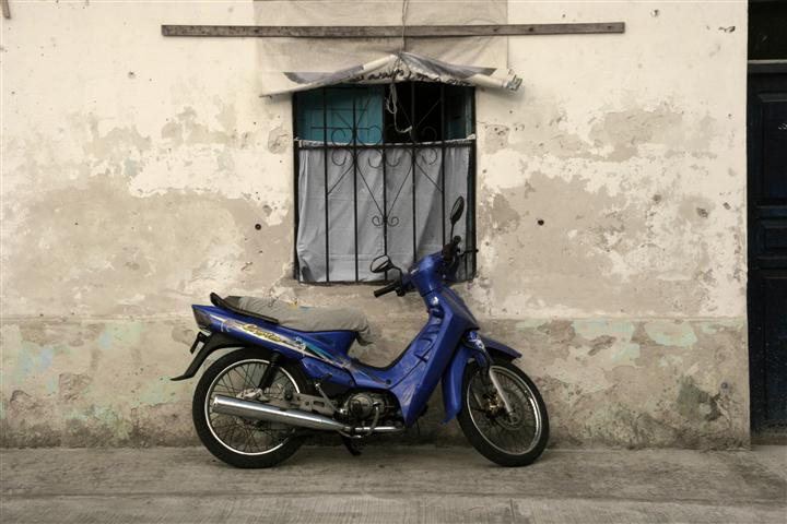 Cozumel: soon to be stolen moto