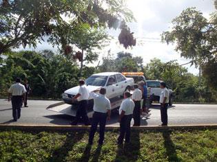 taxi cab crash