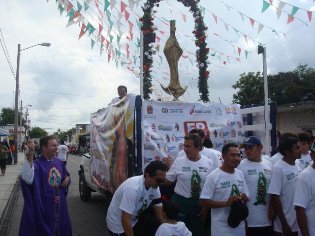 Virgen of Guadalupe parade