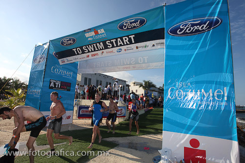 Ironman event on Cozumel