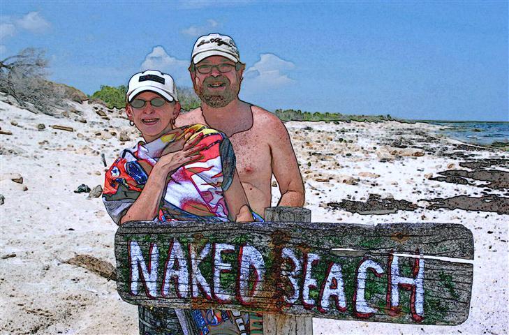 Cozumel: Naked Beach north of Mezcalitos