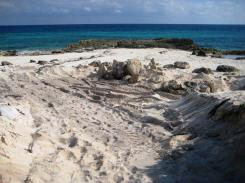 Cozumel: El Cantil loots sand from East Side beach