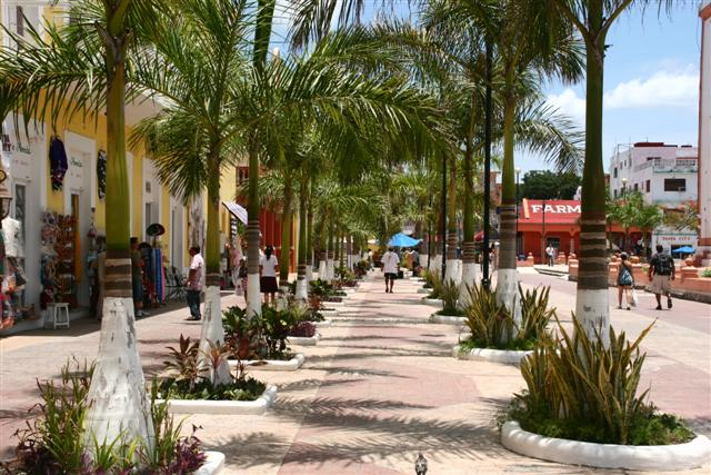 Cozumel town square
