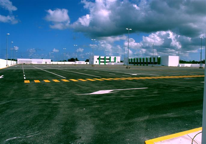 Cozumel truck parking lot